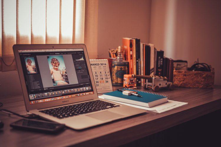 laptop, foto's
